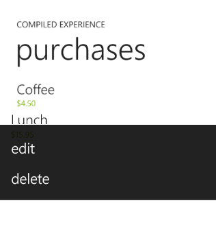 Context Menu in WP7